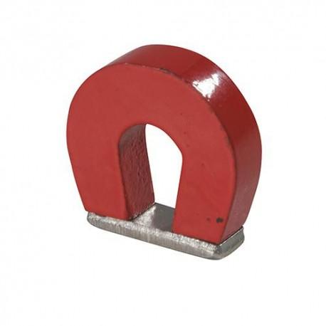 Aimant en fer à cheval 25 x 22 x 8 mm - 169100 - Silverline