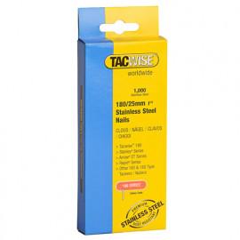 Boîte de 1000 clous en acier inoxydable type 180 L. 25 mm - TA-1066 - Tacwise