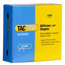 Boîte de 10000 agrafes galvanisées de type 80 L. 6 mm - TA-0381 - Tacwise