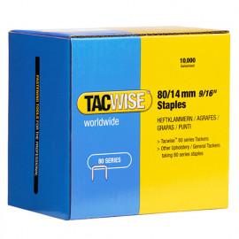 Boîte de 10000 agrafes galvanisées de type 80 L. 14 mm - TA-0385 - Tacwise
