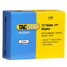 Boîte de 10000 agrafes galvanisées de type 71 L.16 mm - TA-0372 - Tacwise