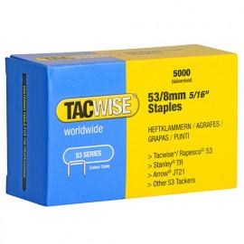Boîte de 5000 agrafes galvanisées de type 53 L. 8 mm - TA-0332 - Tacwise