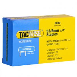 Boîte de 5000 agrafes galvanisées de type 53 L. 6 mm - TA-0331 - Tacwise