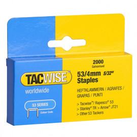 Boîte de 2000 agrafes galvanisées de type 53 L. 4 mm - TA-0333 - Tacwise
