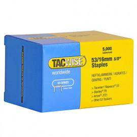 Boîte de 5000 agrafes galvanisées de type 53 L. 16 mm - TA-0453 - Tacwise