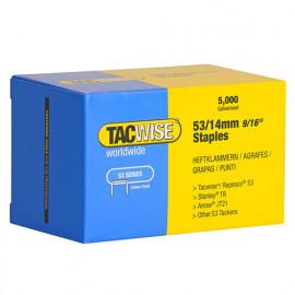 Boîte de 5000 agrafes galvanisées de type 53 L. 14 mm - TA-0452 - Tacwise