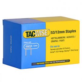 Boîte de 5000 agrafes galvanisées de type 53 L. 12 mm - TA-0450 - Tacwise