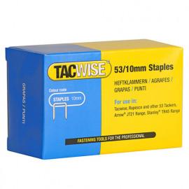 Boîte de 5000 agrafes galvanisées de type 53 L. 10 mm - TA-0431 - Tacwise