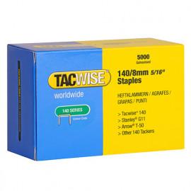 Boîte de 5000 agrafes galvanisées de type 140 L. 8 mm - TA-0341 - Tacwise