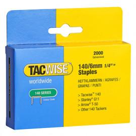 Boîte de 2000 agrafes galvanisées de type 140 L. 6 mm - TA-0345 - Tacwise