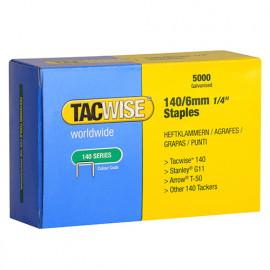 Boîte de 5000 agrafes galvanisées de type 140 L. 6 mm - TA-0340 - Tacwise