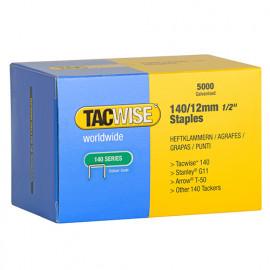 Boîte de 5000 agrafes galvanisées de type 140 L. 12 mm - TA-0343 - Tacwise
