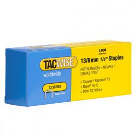 Boîte de 5000 agrafes galvanisées de type 13 L. 6 mm - TA-0233 - Tacwise