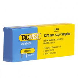 Boîte de 5000 agrafes galvanisées de type 13 L. 4 mm - TA-0232 - Tacwise