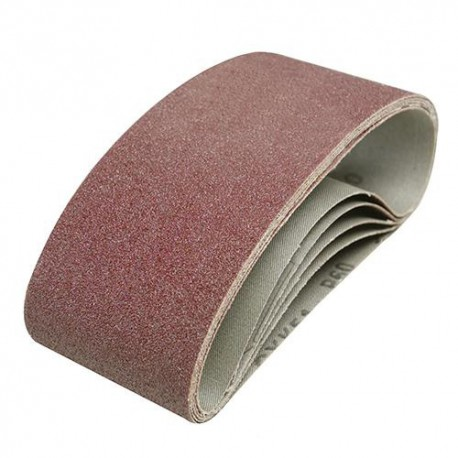 5 bandes abrasives corindon 75 x 457 mm Grain 60 - 185706 - Silverline