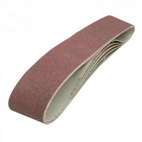 5 bandes abrasives corindon 100 x 915 mm Grain 80 - 186813 - Silverline