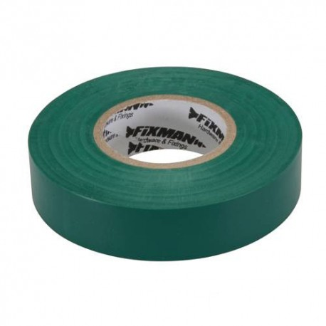 Ruban isolant 19 mm x 33 M, Vert - 188154 - Fixman