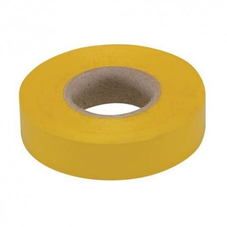 Ruban isolant 19 mm x 33 M, Jaune - 189062 - Fixman