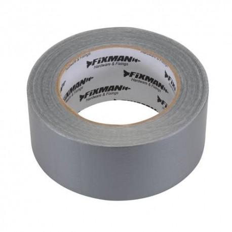 Adhésif toilé robuste 50 mm x 50 m Argent - 189098 - Fixman