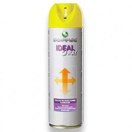 Traceur de chantier fluorescent multidirectionnel IDEAL SPRAY 500 ml de couleur Rouge - 141813 - Soppec