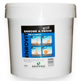 Enrobé bitumeux à froid ENROVIT de couleur Noir en seau de 25 Kg - 143103 - Soppec