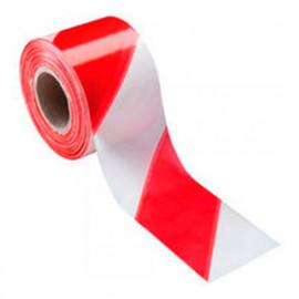 Ruban de signalisation 100 M x 50 mm Rouge/Blanc - 451711C - Soppec