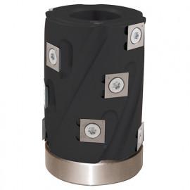 Porte-outils de toupie hélicoïdal à calibrer D. 62 x Al. 30 x Ht. 80 mm Z 12 avec roulement - fixtout Platinum
