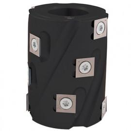 Porte-outils de toupie hélicoïdal à calibrer D. 62 x Al. 30 x Ht. 80 mm Z 6 - fixtout Platinum