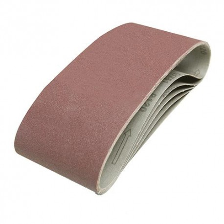 5 bandes abrasives corindon 100 x 610 mm Grain 60 - 196070 - Silverline