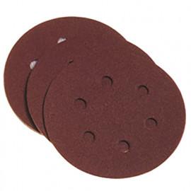 10 disques abrasifs auto-agrippants avec trous d'extraction de poussière D. 150 mm grain 80 - 349.96 - PG Professional