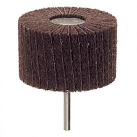Roue à lamelles abrasive en nylon et toile Emery D. 50 x 25 mm Grain 150 Q. 6 mm - 359.46 - PG Professional