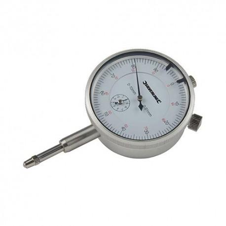 Comparateur à cadran métrique 0 - 10 mm - 196521 - Silverline