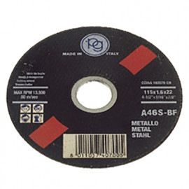 Disque à tronçonner le métal D. 115 x 1,6 x 22,23 mm en Blister - 407.00 - PG Professional