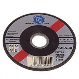 Disque à tronçonner la pierre D. 115 x 1,6 x 22,23 mm en Blister - 409.00 - PG Professional