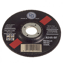 Disque à tronçonner le métal à moyeu déporté D. 115 x 3,2 x 22,23 mm en Blister - 413.00 - PG Professional