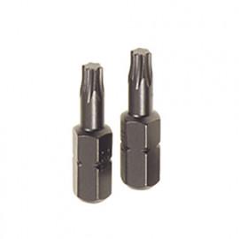 """2 embouts de vissage Torx T40 L. 25 mm Q. 6 pans 1/4"""" - 452.90 - PG Professional"""