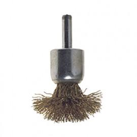 Brosse forme pinceau champignon à fil acier ondulé sur tige D. 30 mm Q. 6 mm - 478.20 - PG Professional