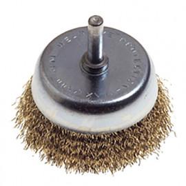 Brosse forme conique à fil laiton sur tige D. 50 mm Q. 6 mm - 495.00 - PG Professional