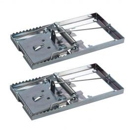 2 pièges à taupe métallique 115 x 60 mm - 197115 - Fixman