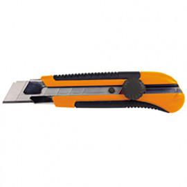 Cutter professionnel avec lame de 25 mm - lame de guidage en métal et poignée antidérapante - 566.12 - PG Professional