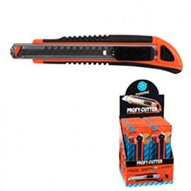 Cutter professionnel avec lame de 9 mm + 3 lames - 566.17 - PG Professional