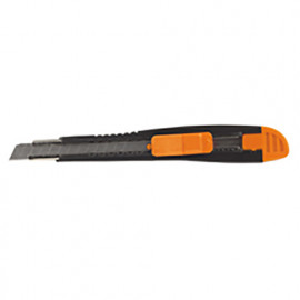 Cutter à lame rétractable de sécurité 9 mm - lame de guidage en métal - 566.25 - PG Professional