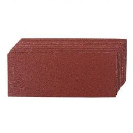 10 feuilles abrasives non-perforées 93 x 230 mm Grain 80 - 214702 - Silverline