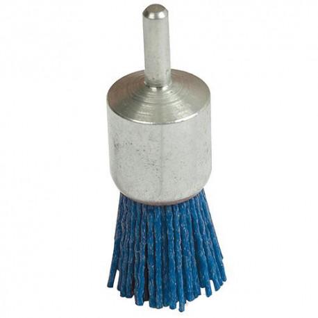 Brosse-pinceau nylon fin D. 24 mm sur tige - 220237 - Silverline