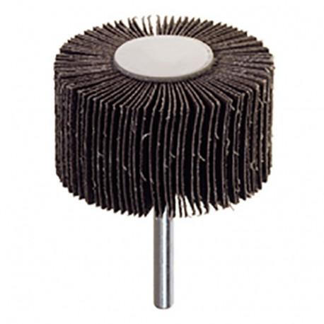 Roues à lamelles corindon sur tige D. 80 x 15 mm Grain 60 Q. 6 mm - RG.029 - PG Professional