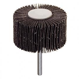 Roues à lamelles corindon sur tige D. 30 x 15 mm Grain 80 Q. 6 mm - RG.039 - PG Professional