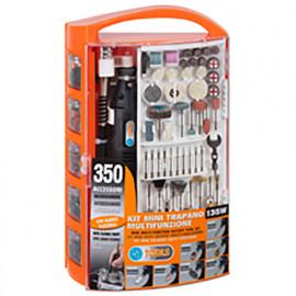 Kit mini perceuse 135 W 230 V avec 350 accessoires - PG138W - PG Tools