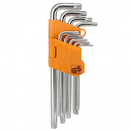 Jeu de 9 clés Torx percés - PGT160 - PG Tools