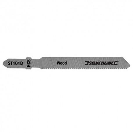5 lames de scie sauteuse LU 75 mm HCS pour le bois - 228224 - Silverline