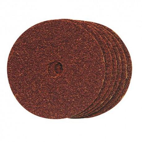 10 disques en fibre D. 100 x 16 mm Grain 60 - 228547 - Silverline